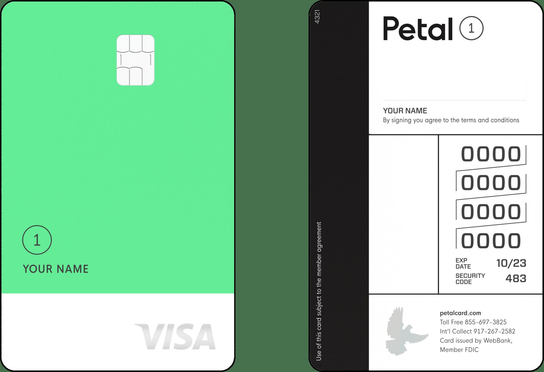 "Petal 1 ""No Annual Fee"" Visa® Credit Card"