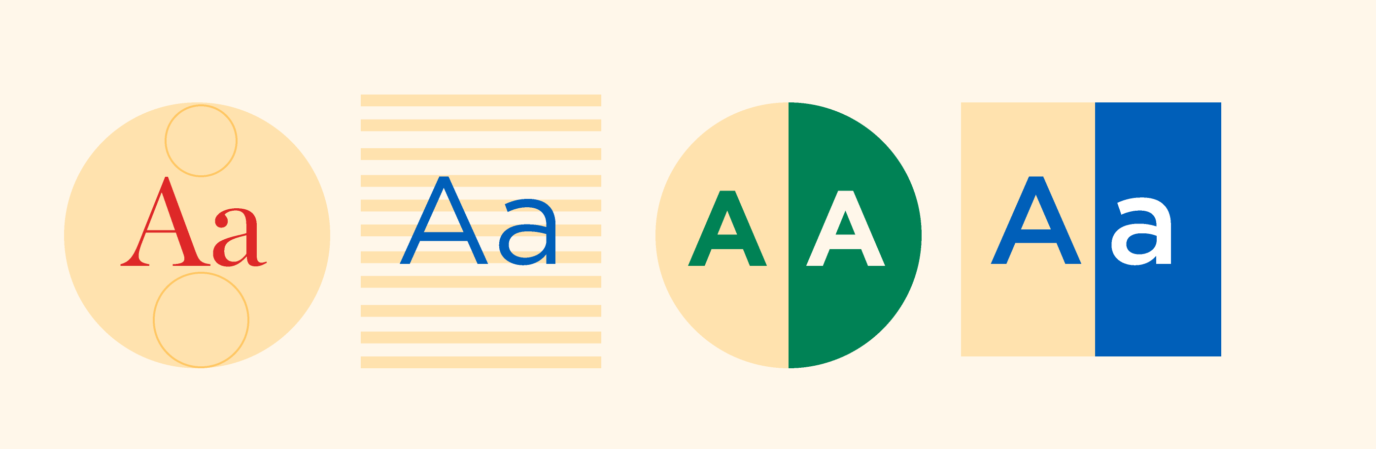 Illustration of Currency typefaces